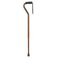 Lightweight Adjustable Designer Cane with Offset Handle