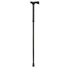 Ladies Adjustable Folding Cane w/ Derby-Top Handle - Black
