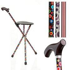 Switch Sticks Folding Walking Sticks with Seat