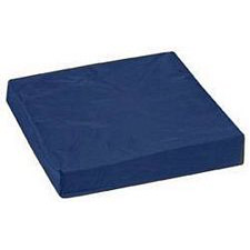 Pincore Cushion w/ Polyester/Cotton Cover, 16 x 20 x 3in. - Navy