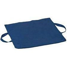 Duro-Gel Flotation Cushion, 16 x 18 x 2in. - Navy Polyester/Cotton