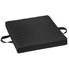Waffle Foam/Gel Seat Cushion - 18 x 20 x 2-1/2 in., Black Oxford Nylon