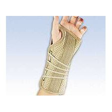 Soft Fit Suede Finish Wrist Brace in Beige