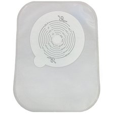 Securi-T USA 1-Piece 9 in. Urinary Pouch - Transparent, Convex, Flip-Flow (Pre-Cut, 10/Box)