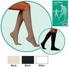 JUZO Basic Ribbed Knee-High Socks - 30-40mmhg (Closed Toe)