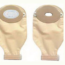 Nu-Hope Nu-Flex 1-Piece Drainable Pouch, Oval Convex (10/Box)