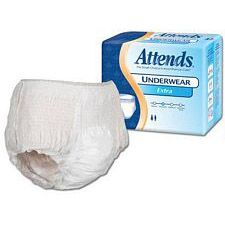 Attends Underwear Extra Absorbency - Large (44 - 58 in.) (18/Box)