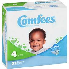 Comfees Diapers - Juvenile Size 4, 22-37 Lbs (31/Pack)