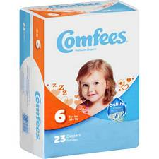 Comfees Diapers - Juvenile Size 6, Over 35 Lbs (23/Pack)
