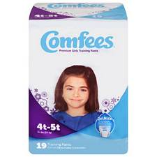 Comfees Training Pants for Girls - Size 4T-5T, 38+ Lbs (19/Pack)