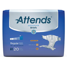 Attends Derma Dry / Advanced Briefs, Large  44 - 58 in. (72 Pack)