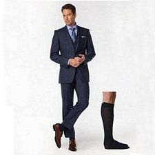 191 Sea Island Cotton Series - Mens Calf-High Stockings - 15-20mmhg