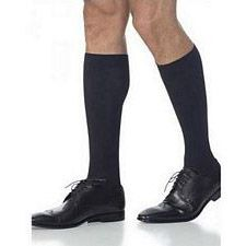 820 Midtown Microfiber Series - Mens Calf-High w/ Grip Top Stockings - 20-30mmhg