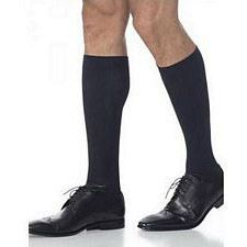 820 Midtown Microfiber Series - Mens Calf-High w/ Grip Top Stockings - 30-40mmhg