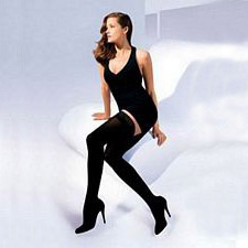 840 Soft Opaque Series - Womens Thigh-High Open Toe Stockings - 20-30mmhg