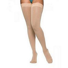 860 Select Comfort Series - Womens Thigh-High w/ Grip Top Stockings - 30 - 40mmHg