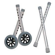 Extended Height 5 in. Walker Wheels & Legs Combo Pack