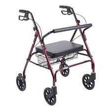 Bariatric Rollator Walker w/ Large Padded Seat