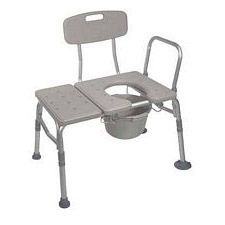Drive Medical Transfer Bench and Commode Combo