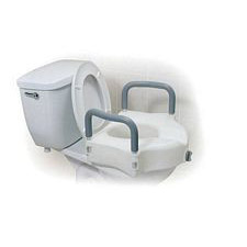 Toilet Seat - Raised w/ Arms and E-Z Lock