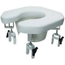 Raised Toilet Seat, Padded with 4 Locking Brackets