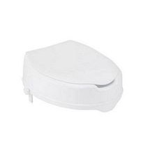 Raised Toilet Seat with Lock and Lid (2 in.)