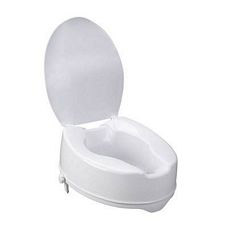 Raised Toilet Seat with Lock and Lid (6 in.)