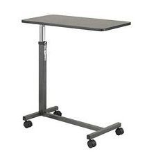 Non Tilt Top Silver Vein Overbed Table