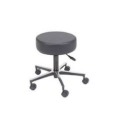 Revolving Pneumatic Adjustable Height Stool w/ Metal Base