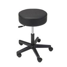 Revolving Pneumatic Adjustable Height Stool w/ Plastic Base