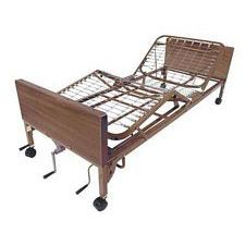 Multi-Height Manual Bed w/ Half Rails & Therapy Mattress