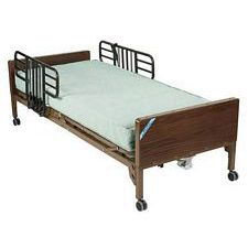 Delta Semi Electric Bed w/ Half Rails & Therapy Mattress