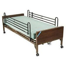 Delta Semi Electric Bed w/ Rails & Therapy Mattress