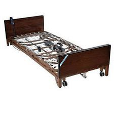 Delta Electric Low Bed w/Rails & Innerspring Mattress