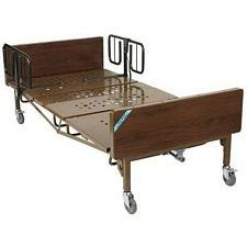 Full Electric Bariatric Hosp. Bed w/Mattress & T Rails