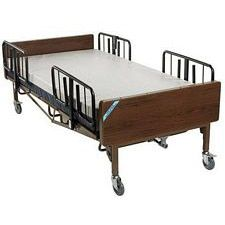 Full Electric Super Bariatric Hosp. Bed w/Mattress & T Rails