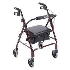 Mimi Lite Flame Red Rollator Walker in Red