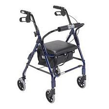 Mimi Lite Flame Blue Rollator Walker in Blue