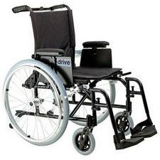 Rehab Wheelchair w/ Adjust. Desk Arms and Swing Footrest (18 in. Seat)