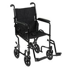 Lightweight Aluminum Transport Wheelchair (Black)