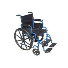 Streak Wheelchair w/Flip Desk Arms & Swing Footrest, Blue (18 in. Seat)