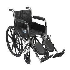 Wheelchair w/ Full Arms & Lift Leg Rest