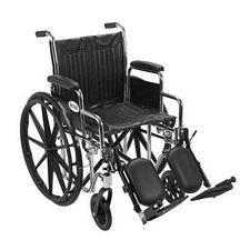 Wheelchair w/ Detachable Desk Arms & Lift Leg Rest