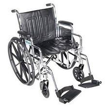 Chrome Sport Dual Axle Wheelchair - 18 w/ Desk Arm and Footrest