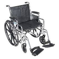 Wheelchair w/ Detachable Desk Arms & Swing Foot Rest