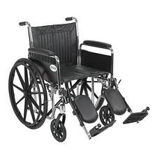 Wheelchair w/ Detachable Full Arms & Lift Leg Rest