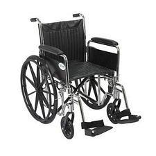 Wheelchair w/ Detachable Full Arms & Swing Foot Rest