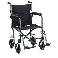 17 in. Flyweight Lightweight Wheelchair, Green