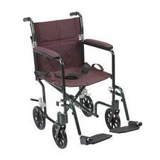 19 in. Flyweight Lightweight Wheelchair, Burgundy Plaid
