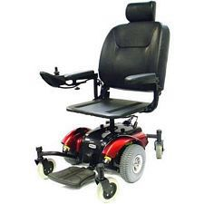 Intrepid Mid-Wheel Power Wheelchair w/ 20 in. Pan Seat, Red
